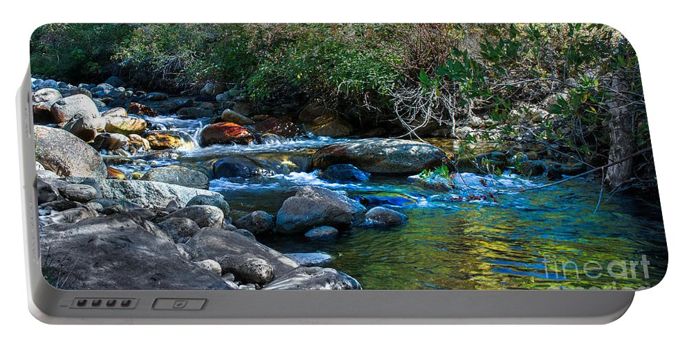 Stream Portable Battery Charger featuring the photograph Mountain Creek by Robert Bales