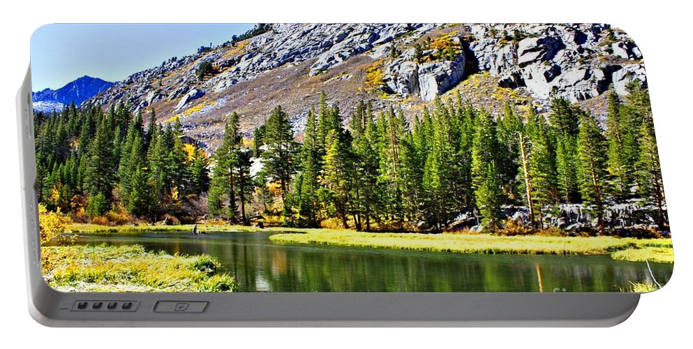 Bishop Portable Battery Charger featuring the photograph Mountain Pond by Tommy Anderson