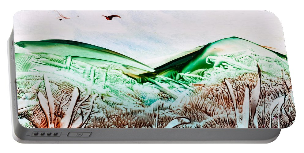 Country Portable Battery Charger featuring the painting Mountain Scene by Simon Bratt Photography LRPS