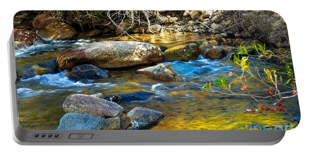 Stream Portable Battery Charger featuring the photograph Mountain Stream by Robert Bales