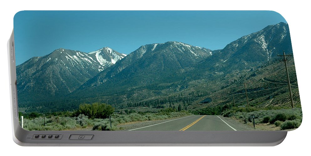 Snow Portable Battery Charger featuring the photograph Mountains Ahead by LeeAnn McLaneGoetz McLaneGoetzStudioLLCcom