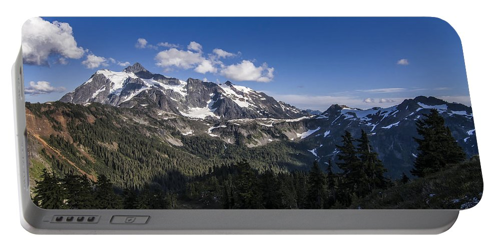 Cascades Portable Battery Charger featuring the photograph Mt Shuksan by Albert Seger