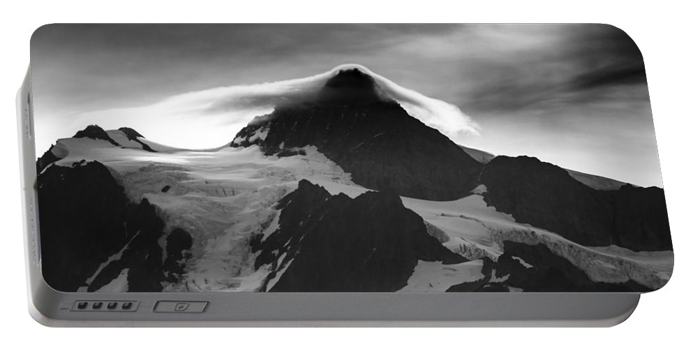 Mt Shuksan Portable Battery Charger featuring the photograph Mt Shuksan Monochrome by Albert Seger