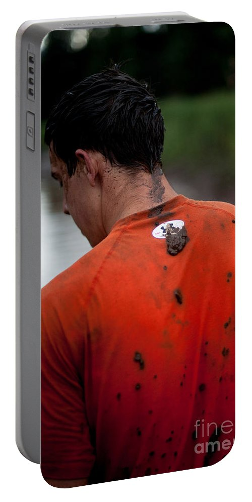 Workout Portable Battery Charger featuring the photograph Muddy Workout by Scott Sawyer