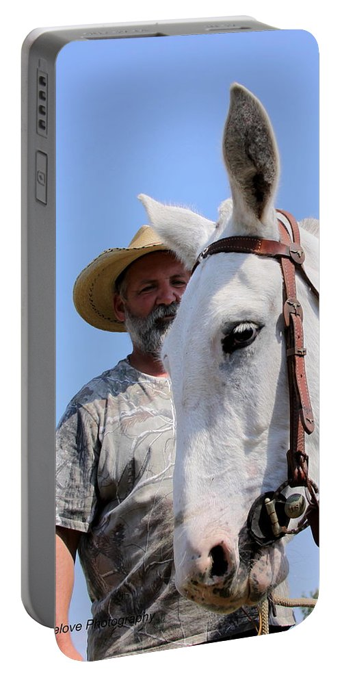 Horses And Mules Portable Battery Charger featuring the photograph Mules At Benson Mule Day by Travis Truelove