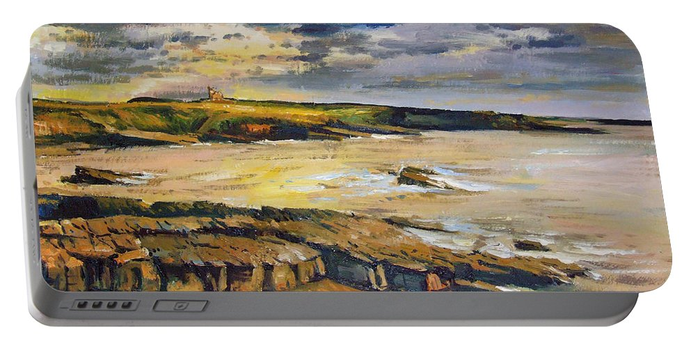 Mullaghmore Sligo Portable Battery Charger featuring the painting Mullaghmore County Sligo by Conor McGuire
