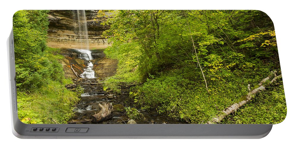 Fall Portable Battery Charger featuring the photograph Munising Falls 3 by John Brueske