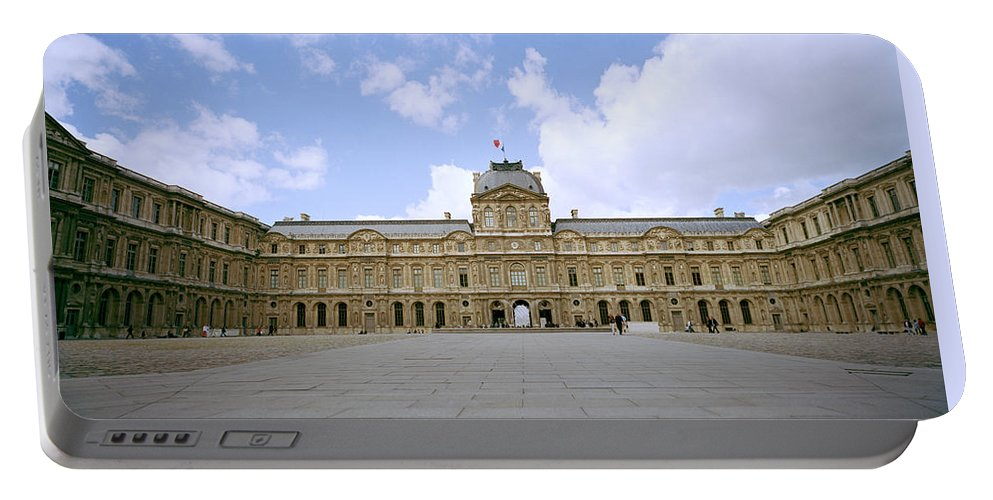 Paris Portable Battery Charger featuring the photograph The Louvre by Shaun Higson