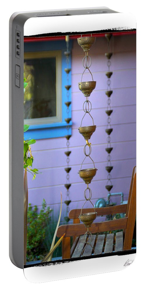 Rain Gutters Portable Battery Charger featuring the photograph Musical Rain Gutters by Diana Haronis