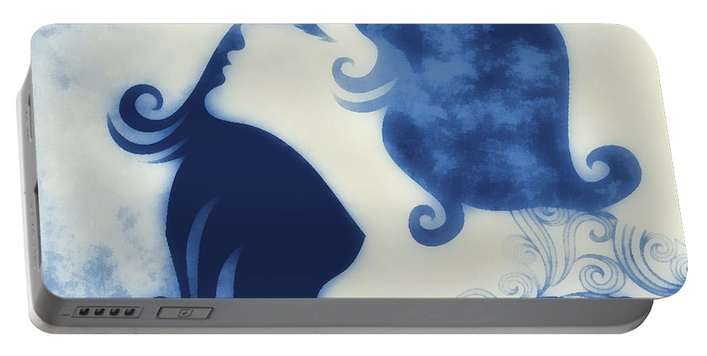 Wonder Portable Battery Charger featuring the digital art My Prince Will Come For Me 2 by Angelina Tamez