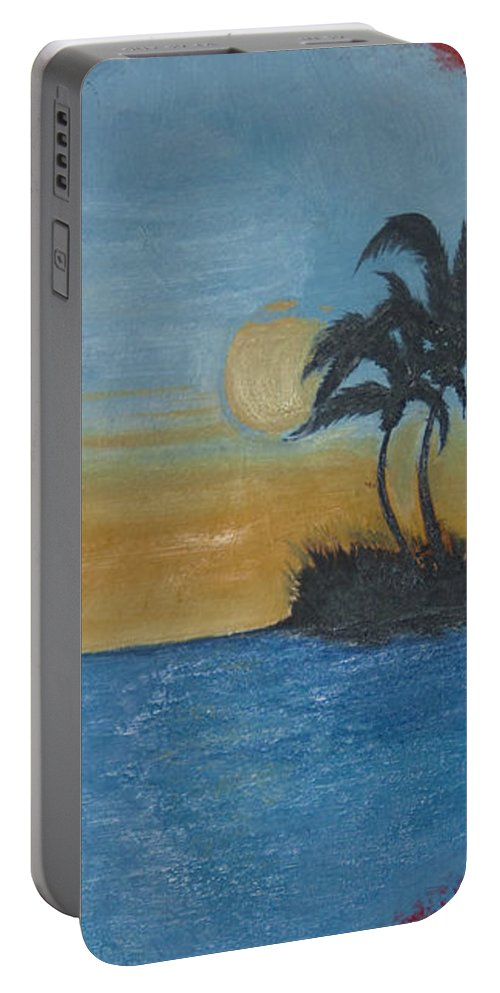 Original Portable Battery Charger featuring the painting My Secret Love Affair by Tom Luca