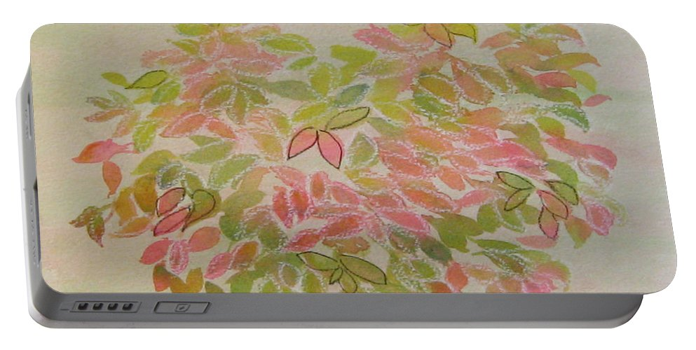 Leaves Portable Battery Charger featuring the painting Nadina Leaves by Diane Quee
