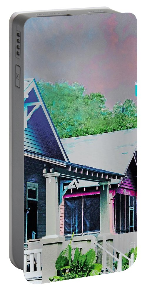Beauregard Town Portable Battery Charger featuring the digital art Napoleon Street Beauregard Baton Rouge by Lizi Beard-Ward