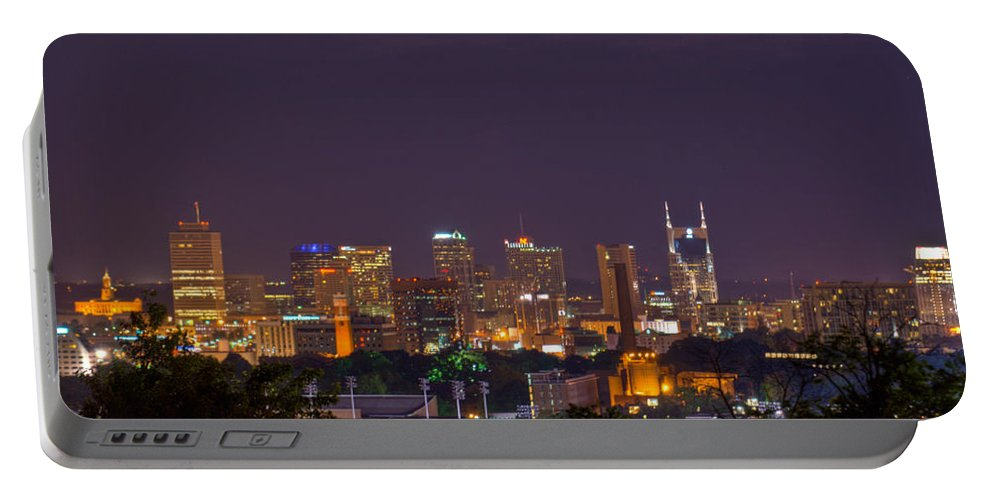 Nashville Portable Battery Charger featuring the photograph Nashville Cityscape 9 by Douglas Barnett