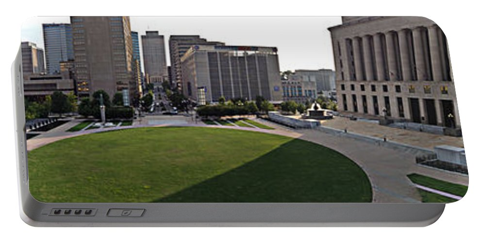 Grass Portable Battery Charger featuring the photograph Nashville Panoramic by Matt Zerbe