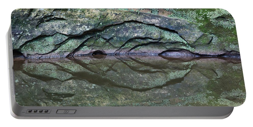 Rock Portable Battery Charger featuring the photograph Nature's Carving by Dale Kincaid