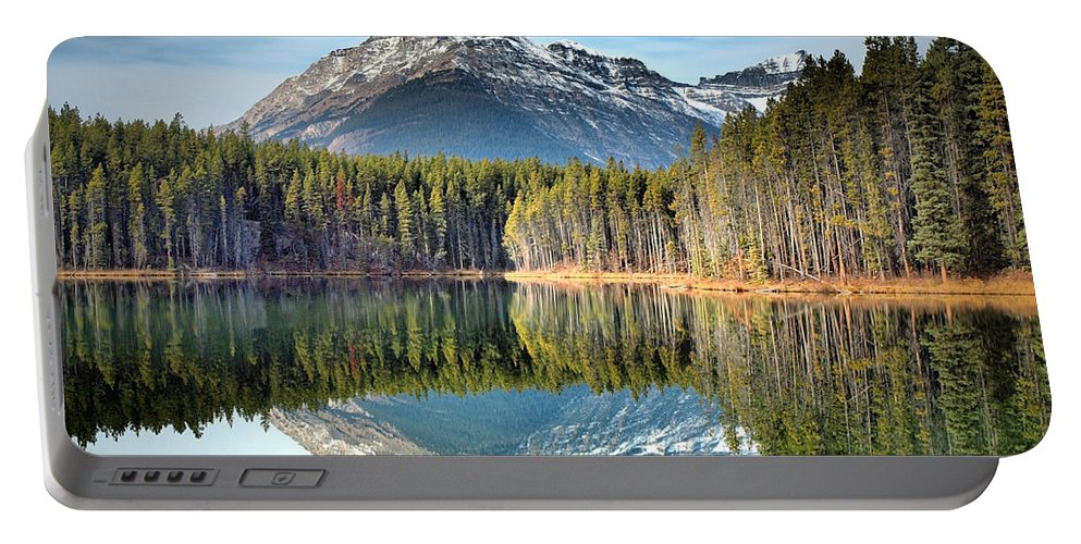 Mountains Portable Battery Charger featuring the photograph Nature's Reflections by Tara Turner
