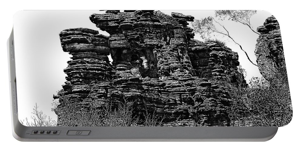 Finger Rock Portable Battery Charger featuring the photograph Natures' Ruins by Douglas Barnard