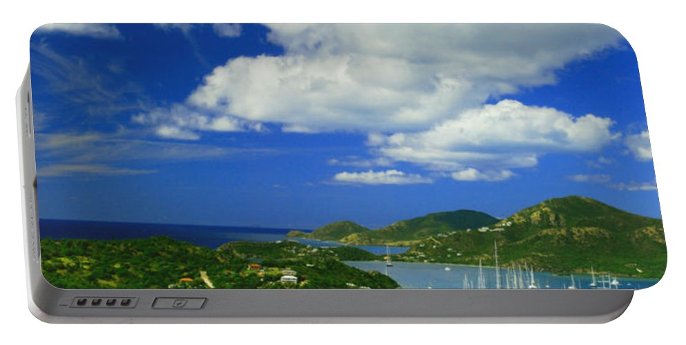 Antigua Portable Battery Charger featuring the photograph Nelson's Dockyard by Gary Wonning