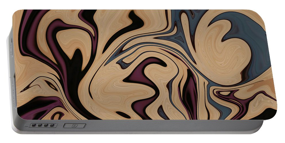 Abstract Portable Battery Charger featuring the photograph New Beginnings by Aimee L Maher ALM GALLERY