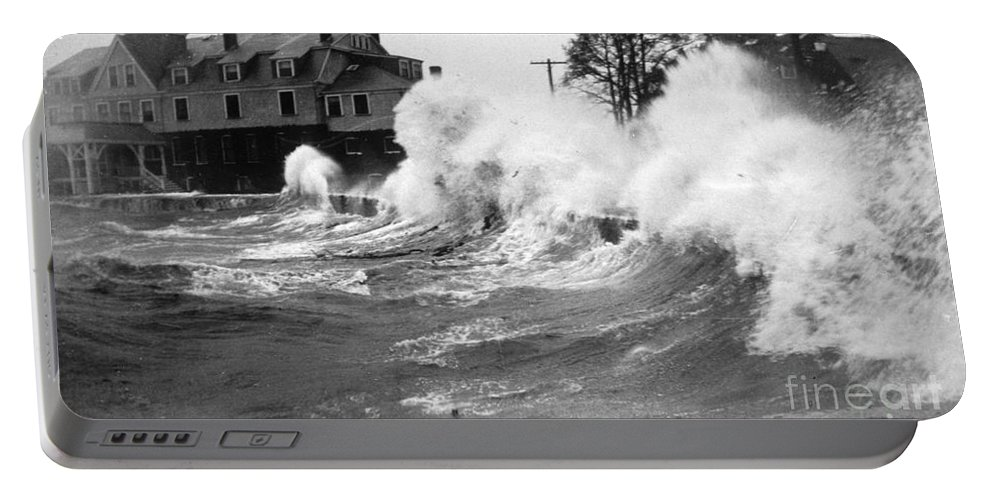 Science Portable Battery Charger featuring the photograph New England Hurricane, 1938 by Science Source
