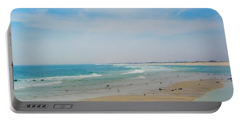 Beach Portable Battery Charger featuring the photograph New Jersey And You by Bill Cannon