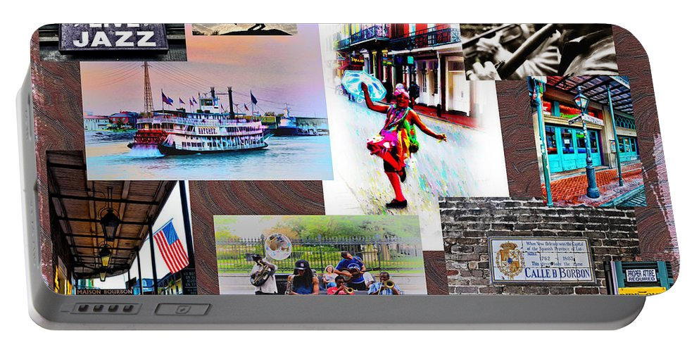New Orleans The Birthplace Of Jazz Portable Battery Charger featuring the photograph New Orleans The Birthplace Of Jazz by Bill Cannon