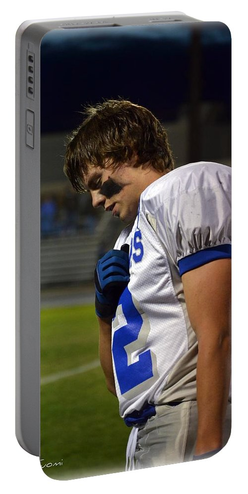 Portable Battery Charger featuring the painting Nick Welch by Mary Tuomi