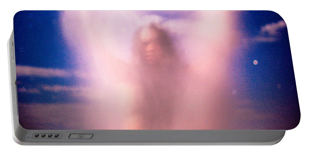 Woman Portable Battery Charger featuring the photograph Night Ghost by Scott Sawyer