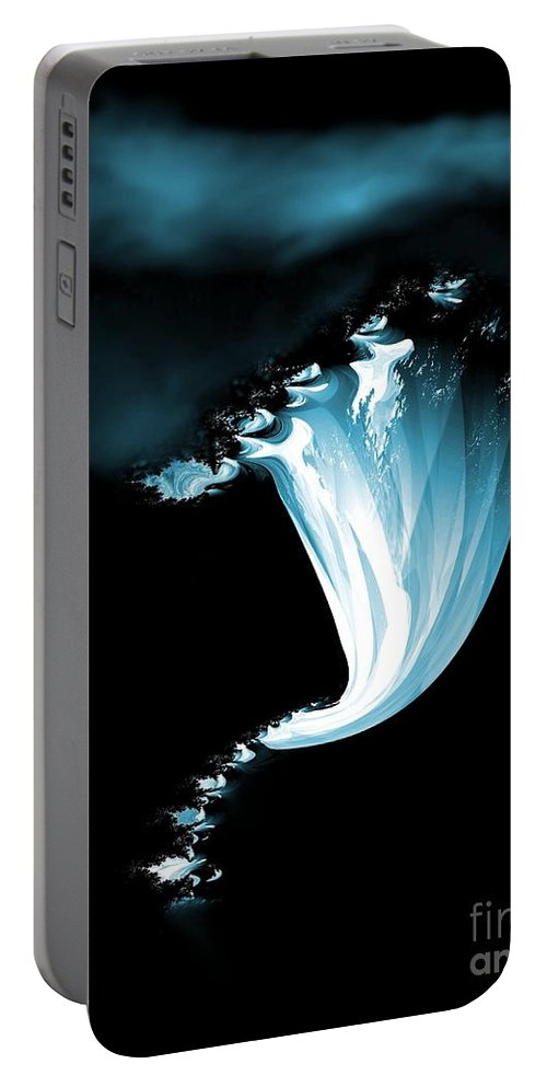 Night Portable Battery Charger featuring the digital art Night Of The Whirlwind by Maria Urso