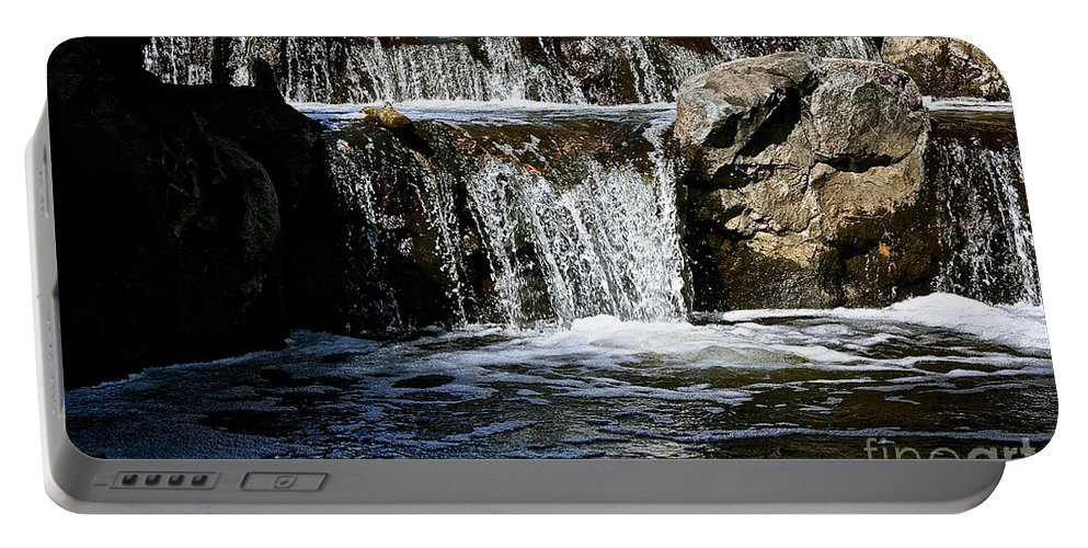 Outdoors Portable Battery Charger featuring the photograph Normandale Falls by Susan Herber