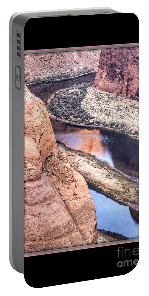Horseshoe Bend Portable Battery Charger featuring the photograph North Side Of Horseshoe Bend by Larry White