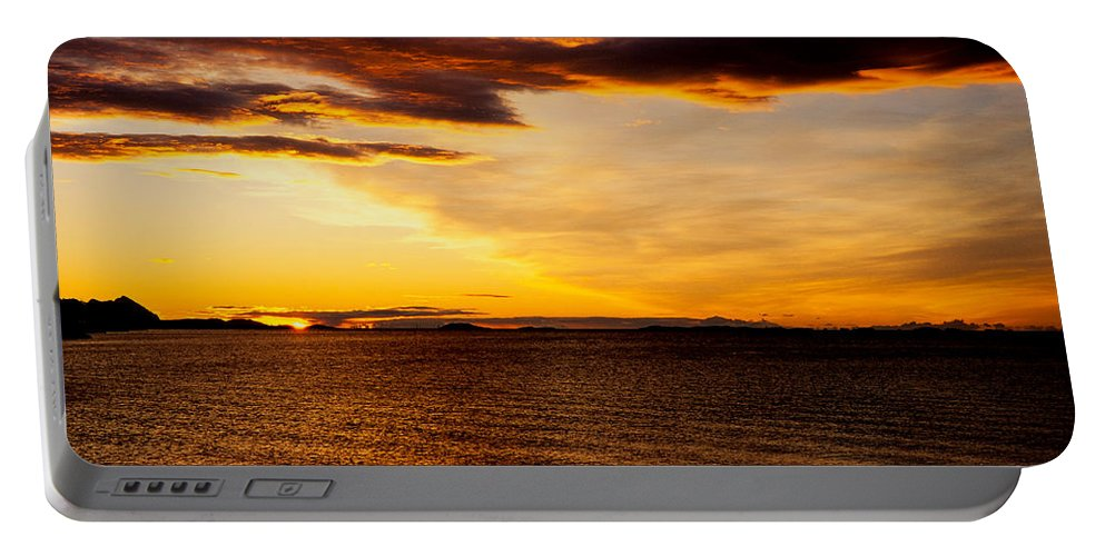 Bodo Portable Battery Charger featuring the photograph Northern Sunset by Hakon Soreide
