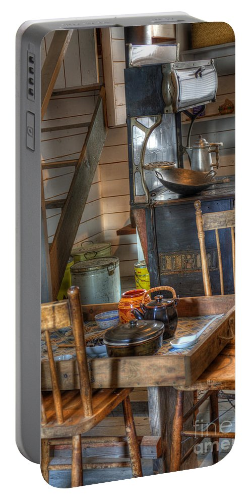 Nostalgia Portable Battery Charger featuring the photograph Nostalgia Country Kitchen by Bob Christopher