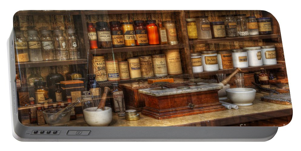 Nostalgia Portable Battery Charger featuring the photograph Nostalgia Pharmacy 2 by Bob Christopher