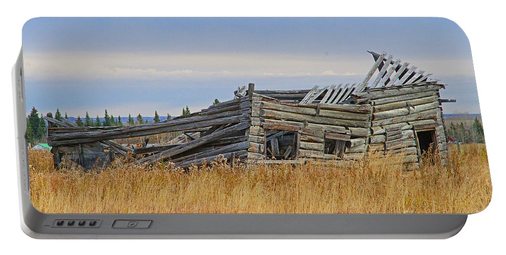 Old Barn Portable Battery Charger featuring the photograph Not Much Left by Randy Harris