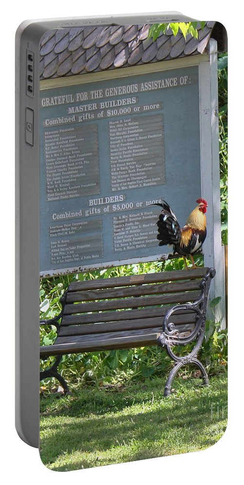 Rooster Portable Battery Charger featuring the photograph Nothing To Crow About by Tommy Anderson