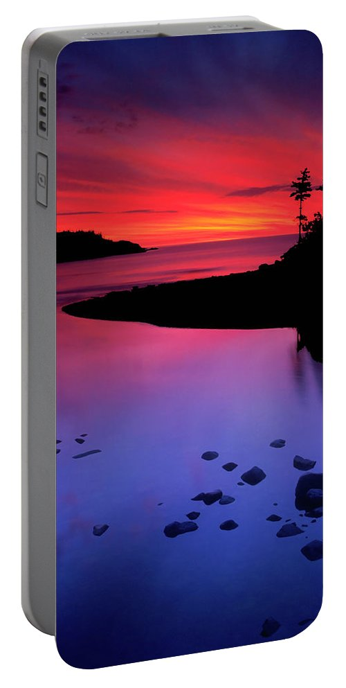 Nova Scotia Portable Battery Charger featuring the photograph Nova Scotia Sunrise by Dave Mills