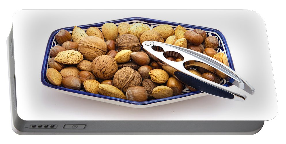 Almond Portable Battery Charger featuring the photograph Nuts by Tom Gowanlock