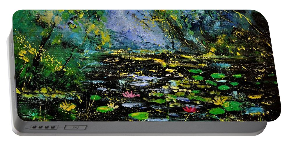 Landscape Portable Battery Charger featuring the painting Nympheas 561170 by Pol Ledent