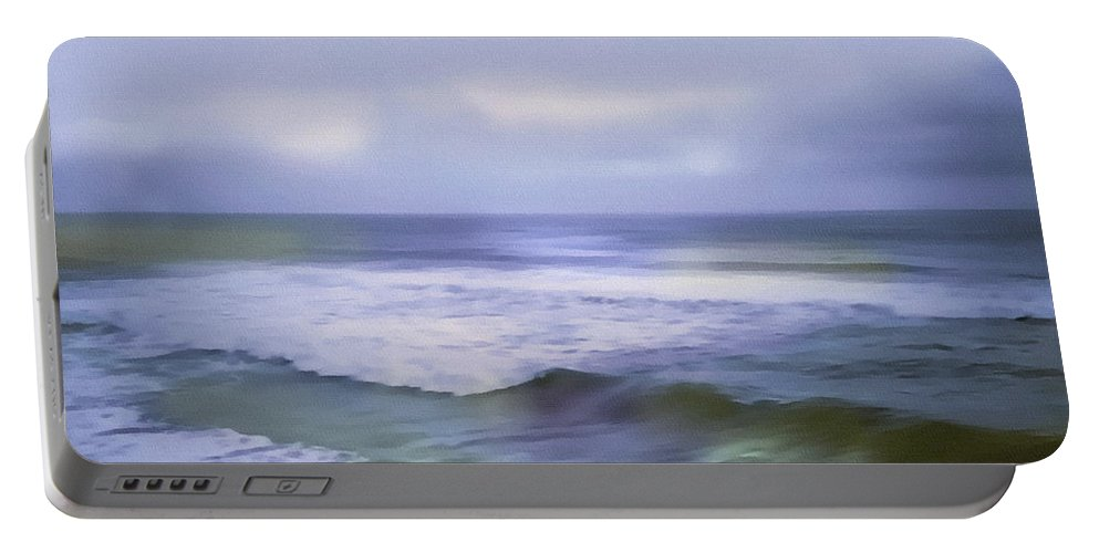 Ocean Portable Battery Charger featuring the painting Ocean Dreamscape by Georgiana Romanovna