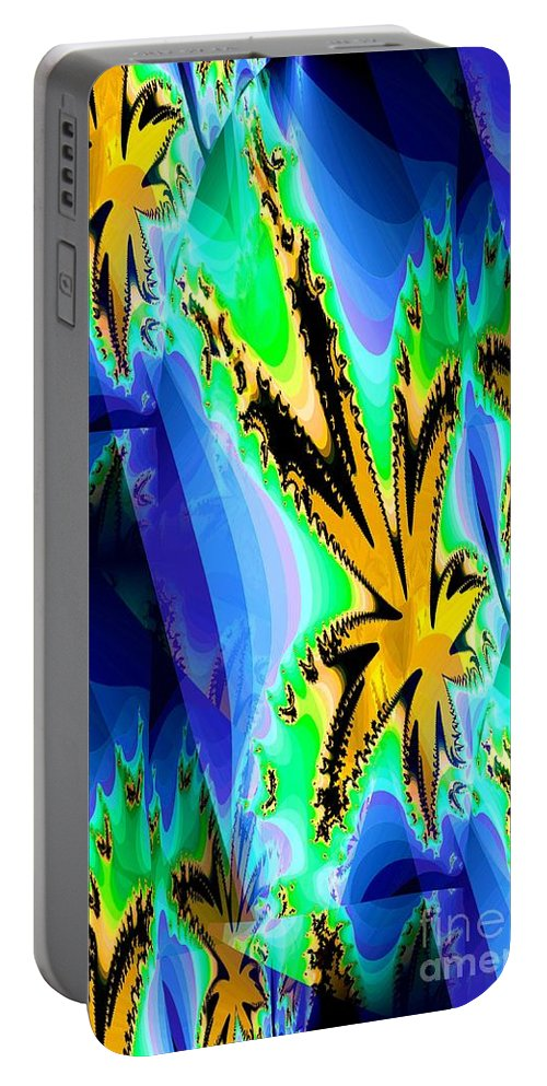 Ocean Portable Battery Charger featuring the digital art Ocean Stars by Maria Urso