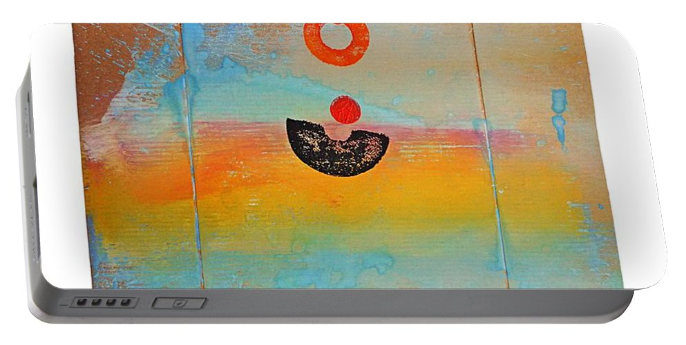 Seascape Portable Battery Charger featuring the painting Ocean Swell by Charles Stuart