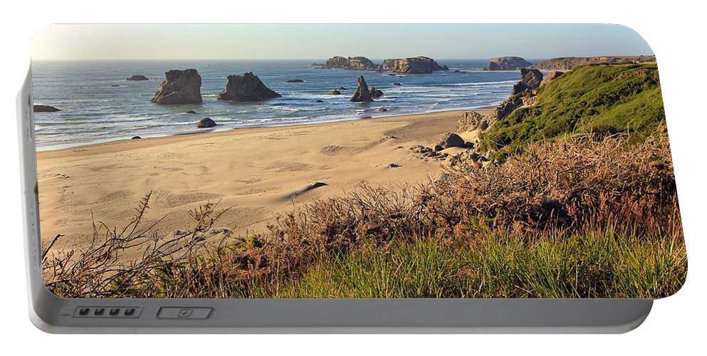 Bandon Oregon Beaches Portable Battery Charger featuring the photograph Bandon Oregon Shorelines by Athena Mckinzie