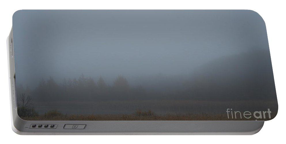 Outdoors Portable Battery Charger featuring the photograph October Fog by Susan Herber