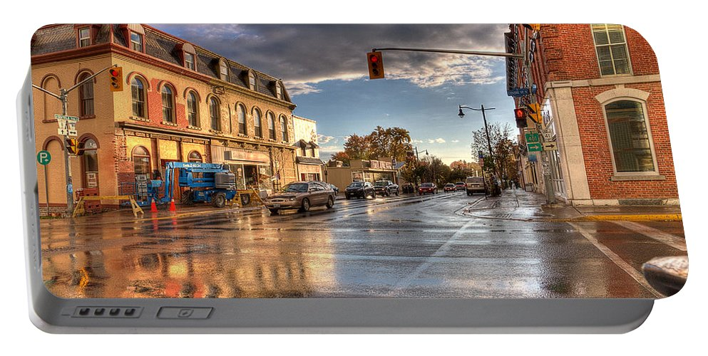Acrylic Prints Portable Battery Charger featuring the photograph October Rain by John Herzog