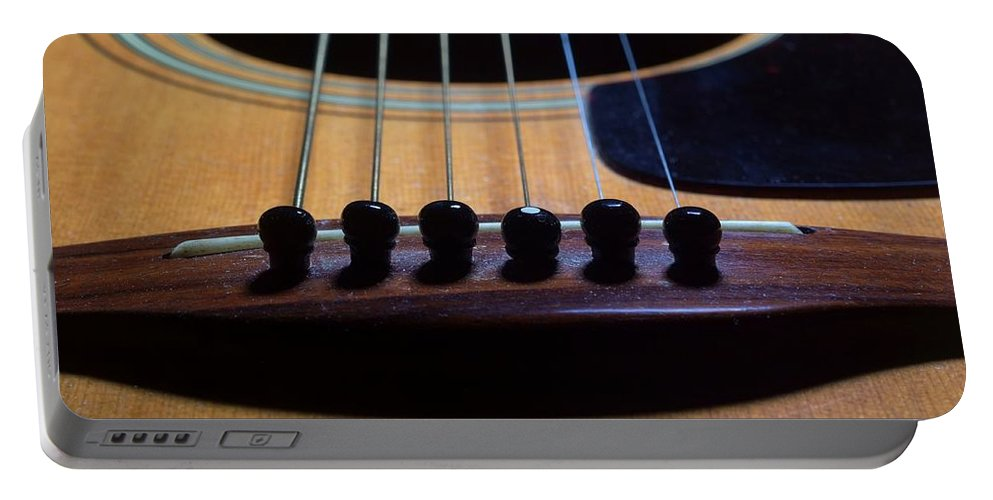 Guitar Portable Battery Charger featuring the photograph Odd Man Out by Joe Kozlowski