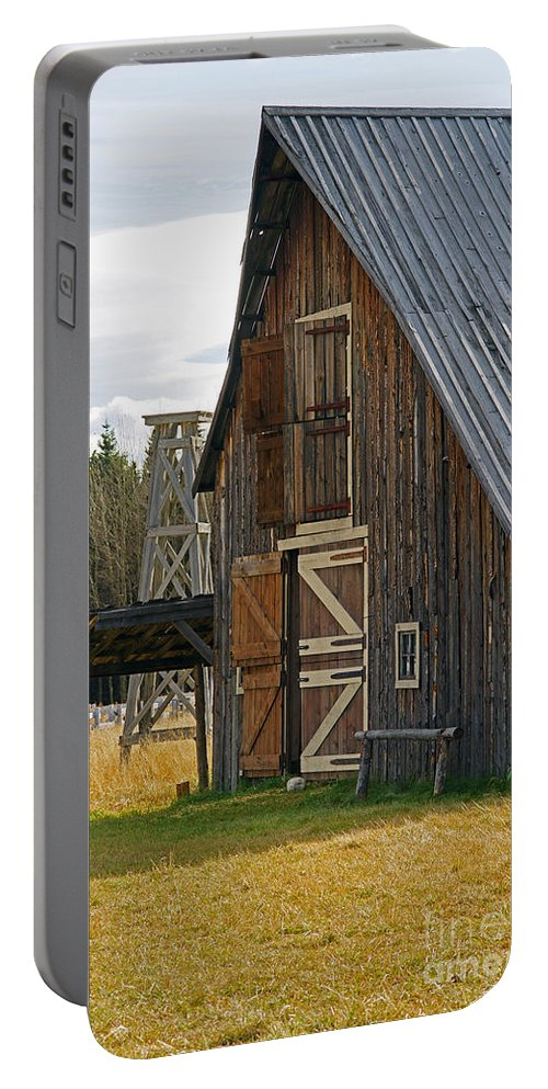 Old Barn Portable Battery Charger featuring the photograph Old Barn Doors by Randy Harris