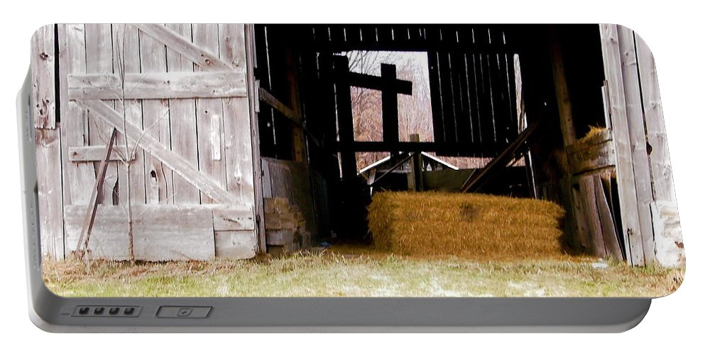 Barn Portable Battery Charger featuring the photograph Old Barn by Stephanie Moore