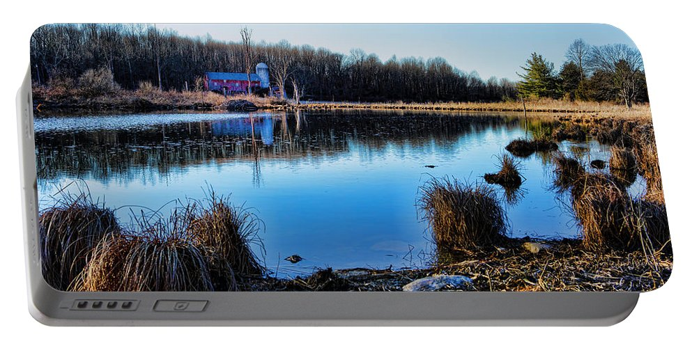 Walpack Portable Battery Charger featuring the photograph Old Barn Walpack Nj by Rick Berk